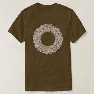 マヤのカレンダーブラウン Tシャツ