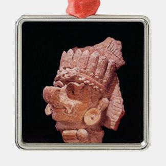 マヤのトウモロコシの神の頭部、オアハカ州のc.500広告 メタルオーナメント