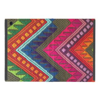 マヤの多彩な織物パターンiPadの小型場合 iPad Mini ケース