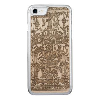 マヤの定規Pakal金 Carved iPhone 8/7 ケース
