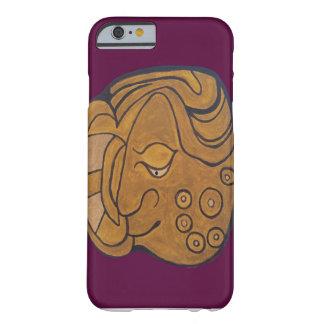 マヤの微笑の円形浮彫りの暗い紫色 BARELY THERE iPhone 6 ケース
