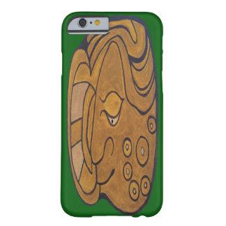 マヤの微笑の円形浮彫りFORRESTの緑 BARELY THERE iPhone 6 ケース
