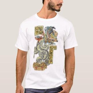 マヤの戦士の水彩画の絵画 Tシャツ