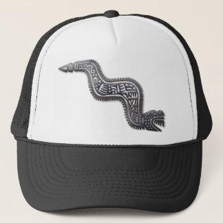 マヤの蛇-黒および銀 キャップ