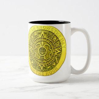 マヤ日時間を知っていません ツートーンマグカップ