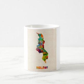マラウィの水彩画の地図 コーヒーマグカップ