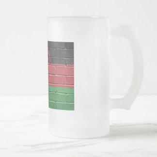マラウィ共和国の旗 フロストグラスビールジョッキ