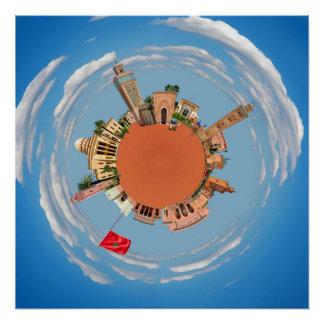 マラケシュ少し惑星のモロッコ旅行観光事業LAN ポスター