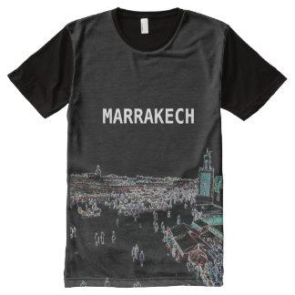 マラケシュ-印刷されたTシャツをくまなくモロッコ オールオーバープリントT シャツ