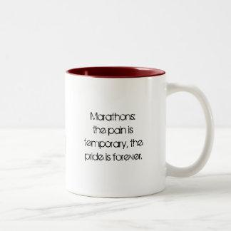 マラソンのマグ ツートーンマグカップ