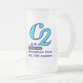 マラソンの列 フロストグラスビールジョッキ