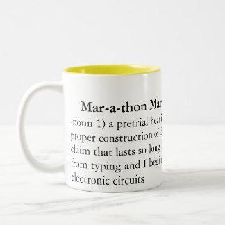 マラソンの印人のヒアリング: 、-名詞1) pret… ツートーンマグカップ