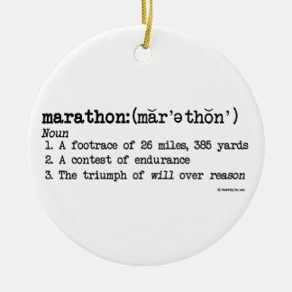 マラソン定義 セラミックオーナメント