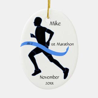 マラソン選手のオーナメント-男性 セラミックオーナメント