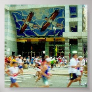 マラソン飛行 ポスター