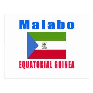 マラボの赤道ギニアの首都のデザイン ポストカード
