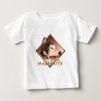 マラミュートのハスキー ベビーTシャツ
