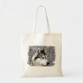 マラミュートの写真の小さいキャンバスのバッグ トートバッグ