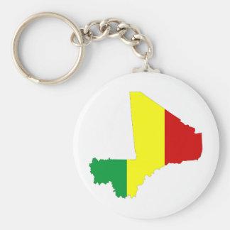 マリの国旗の地図の形のシルエットの記号 キーホルダー