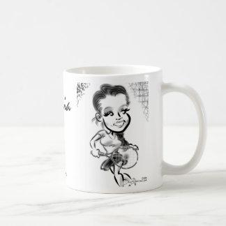 マリアのテニスの風刺漫画のマグ コーヒーマグカップ