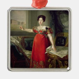 マリアイザベルde Braganza 1829年女王夫人(油 メタルオーナメント