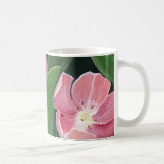 マリアウィリアムス著ピンクのチューリップのマグ コーヒーマグカップ