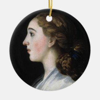 マリアテレサde Vallabriga Goyaの芸術のポートレート セラミックオーナメント