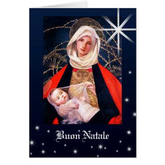 マリアンヌStokes.Italianのクリスマスカードによるマドンナ カード
