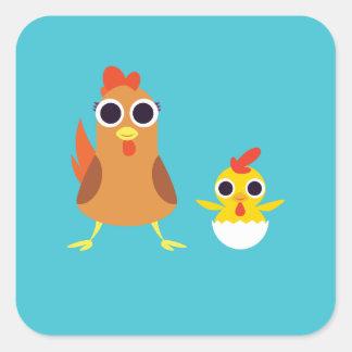 マリア及び強盗鶏 スクエアシール