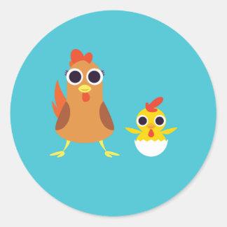 マリア及び強盗鶏 ラウンドシール
