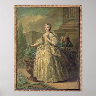 マリアLeszczynska 1747年のポートレート ポスター
