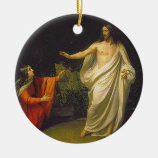 マリアMagdalinaへのイエス・キリストの出現 セラミックオーナメント