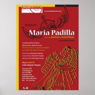 マリアPadillaショーポスター、2011年5月 ポスター