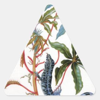 マリアSibylla Merian著未知のタイトル 三角形シール