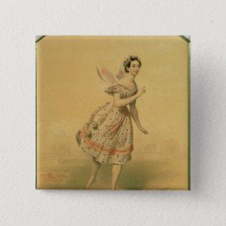 マリアTaglioniダンサー 5.1cm 正方形バッジ
