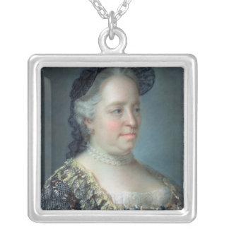 マリアTheresaのオーストリア1762年の皇后 シルバープレートネックレス