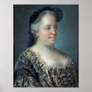 マリアTheresaのオーストリア1762年の皇后 ポスター