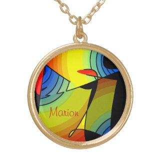 マリオンの多彩のネックレス ゴールドプレートネックレス