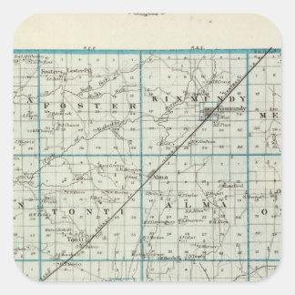 マリオン郡の地図 スクエアシール