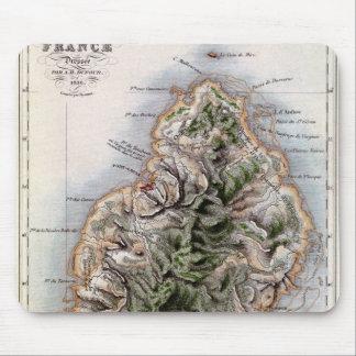 マリシャスのイラストレーション「ポールとVirginieの地図 マウスパッド