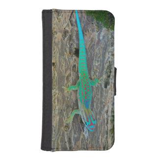 マリシャスの低地の森林日のヤモリ iPhoneSE/5/5sウォレットケース