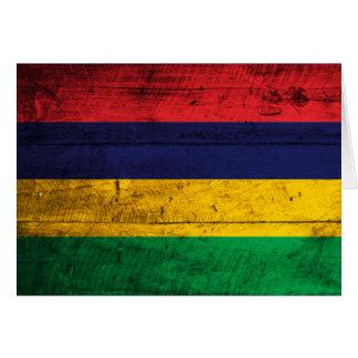 マリシャスの古い木の旗 カード