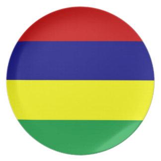マリシャスの国旗のプレート プレート