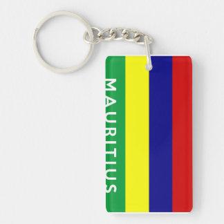 マリシャスの国旗の記号の名前の文字 キーホルダー