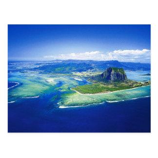 マリシャスの島の郵便はがき 葉書き