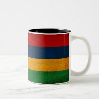 マリシャスの旗のマグ ツートーンマグカップ