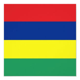 マリシャスの旗の招待状 13.3 スクエアインビテーションカード