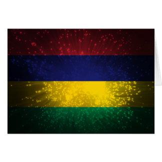マリシャスの旗の花火 カード