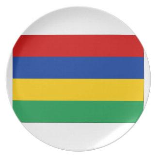マリシャスの旗 プレート