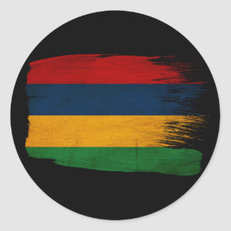 マリシャスの旗 丸型シール